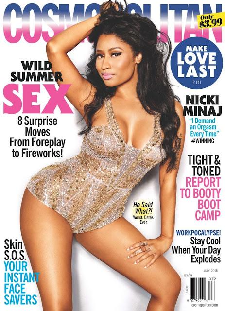 Rapper, Singer @ Nicki Minaj - Cosmopolitan Magazine, July 2015