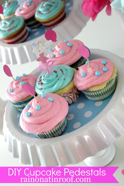 DIY Cupcake Stands via RainonaTinRoof.com