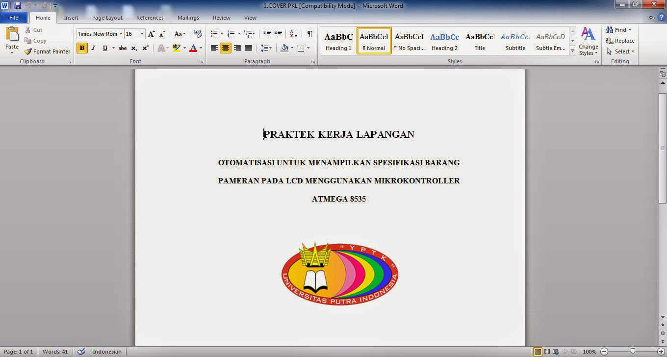 Cara Mengubah File Dokumen/Document Microsoft Office Word Ke PDF
