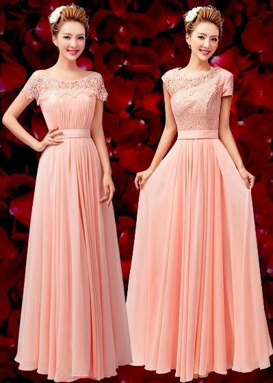 Dual-D Pink Maxi Dress