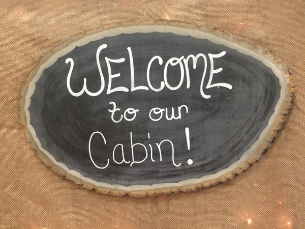 Welcome to Our Cabin Summer Camp DIY Chalkboard Sign @craftwarehouse
