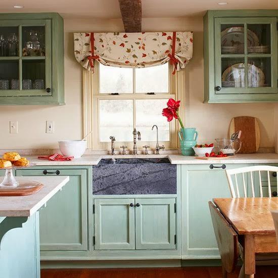 Keuken Kleur Groen : Mooie blauwe keuken met een strandgevoel