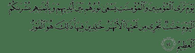 Surat Al Hadid Ayat 12