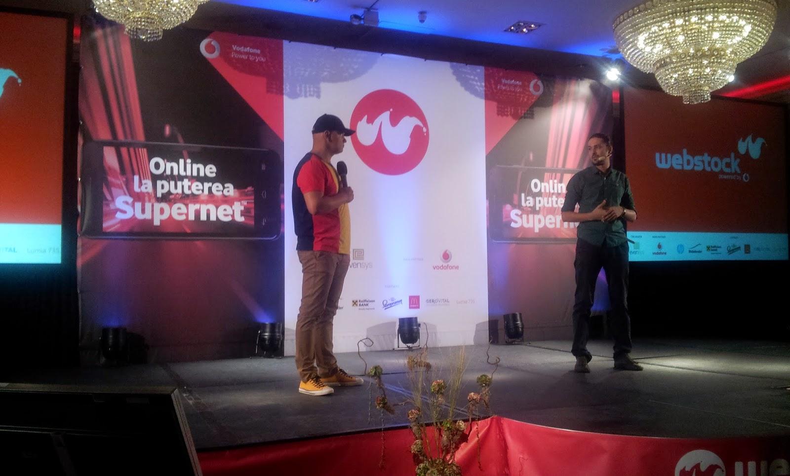 Cristian Manafu și  Mihai Sfrijan la Webstock 2014