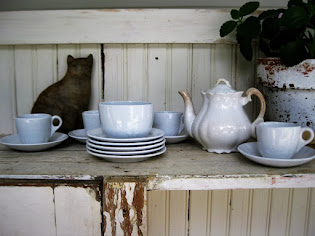 toy tea set in ironstone
