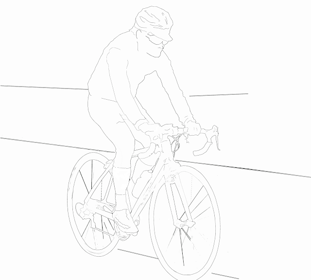 cyclist sketch