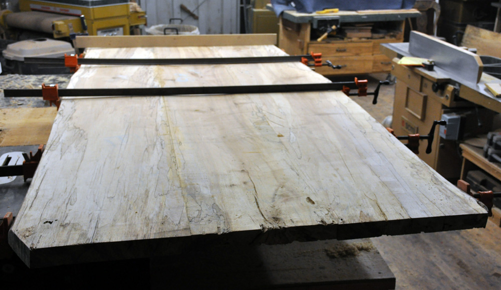 After A Bit Of Wrestling With Skilsaws, Straight Edges, Routers, And  Jointers, We Got The Planks Glued Up And Ready To Scrape And Sand.
