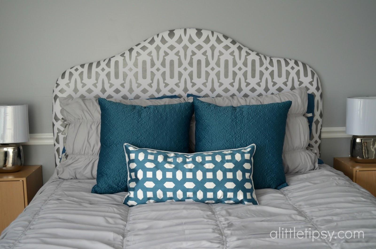 diy headboard a little tipsy. Black Bedroom Furniture Sets. Home Design Ideas