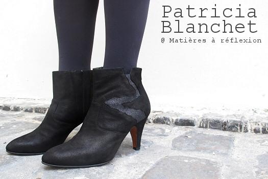 Boots Patricia Blanchet Deborah glitter noir