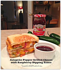 Jalapeño Popper Grilled Cheese with Raspberry Dipping Sauce