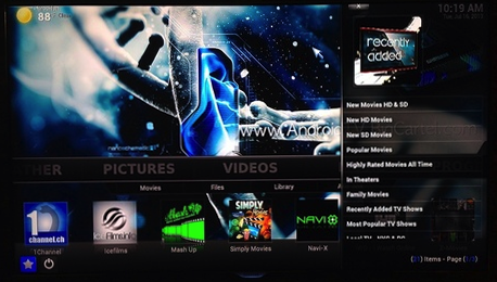 Special enhanced version of xbmc available on the g box mx2