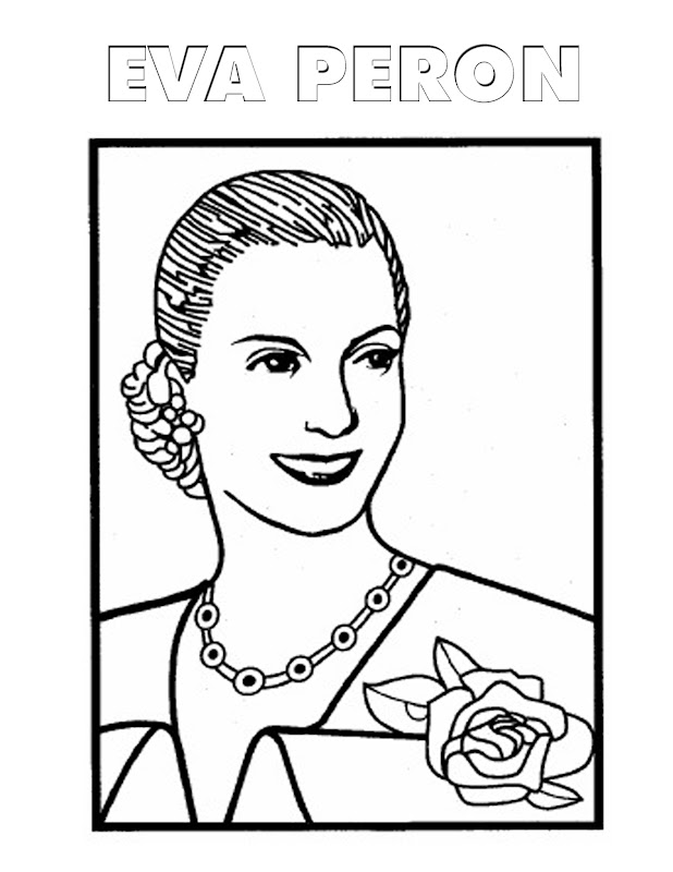 Eva Perón para colorear