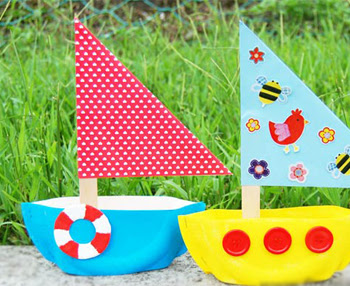 Paper Plate Sailboat