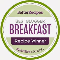 BEST BLOGGER BREAKFAST RECIPE WINNER ! (READER'S CHOICE)