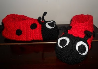 Ladybird Slippers Knitting Pattern