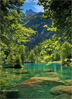 Blue Lake,Kandersteg,Switzerland