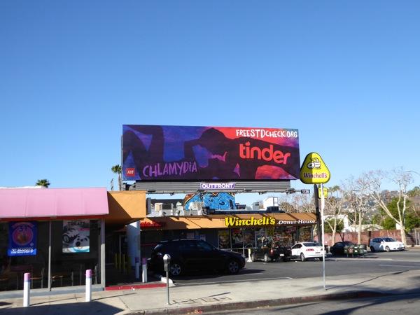 Chlamydia Tinder STD check billboard