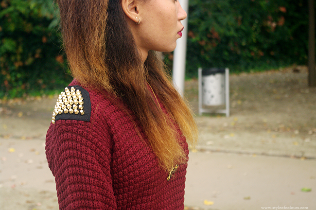 How to style a wine jumper