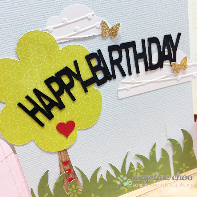 ScrappyScrappy: Bendy Garden Card #scrappyscrappy #thecuttingcafe #bendycard #card #cardmaking #birthdaycard #birthday #garden #cutfile #svg