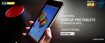 Flipkart (Price cuts in all models) : Buy Digiflip Pro ET701 (Intel Processor) Tablets Starting at Rs. 3299