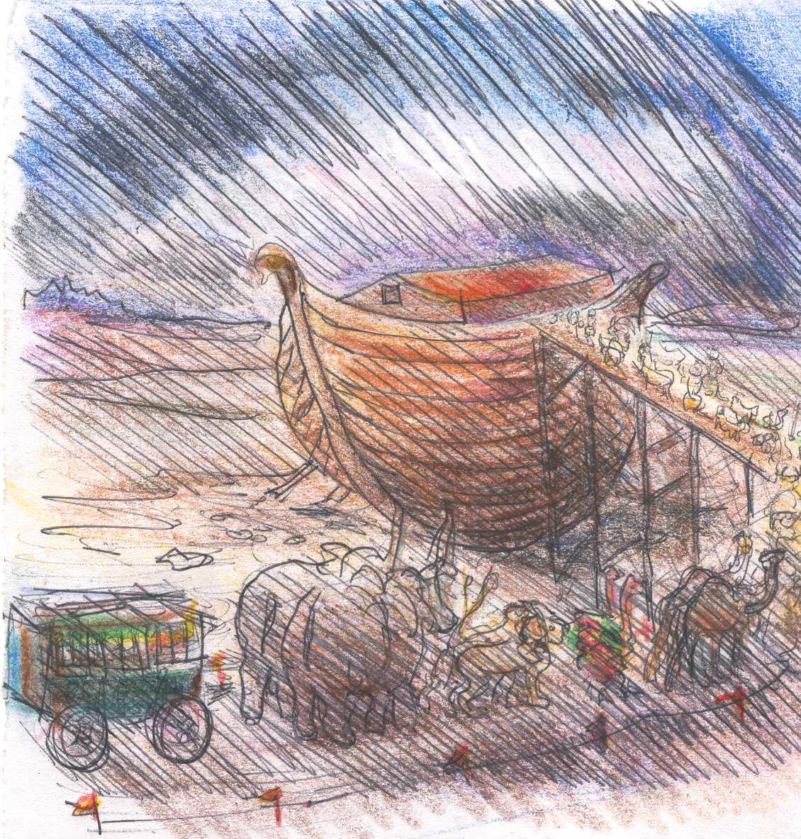 anagasto noah u0027s ark seen by marcel proust