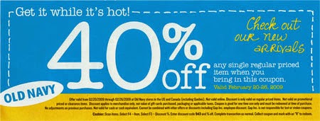 old navy printable coupons 40% OFF 2014