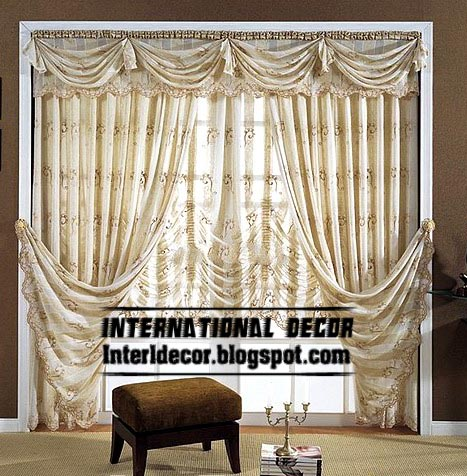 Merveilleux Top Curtain Model And Unique Draperies With Crushed Shades, Chiffon Curtains
