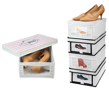 breathable collapsible shoe boxes