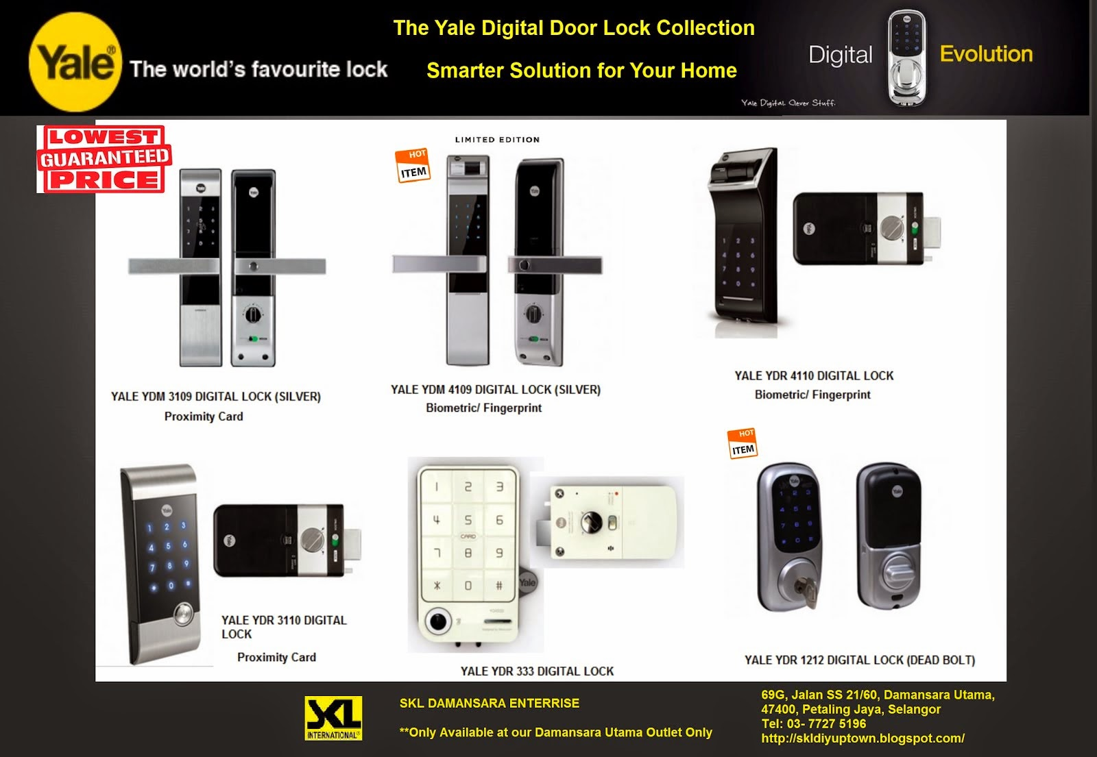 Cheapest in Town!!! Great Bargains on our Yale Digital Lock Smart Home Series