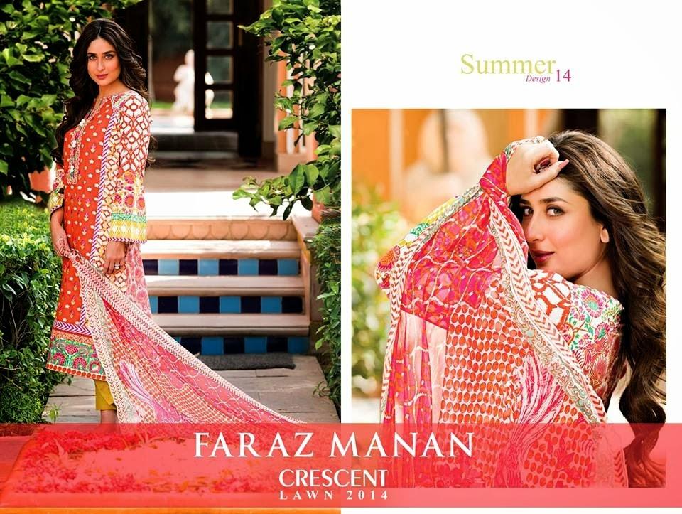 FarazMananCrescentLawn2014 wwwfashionhuntworldblogspotcom 09 - Faraz Manan Crescent Lawn 2014