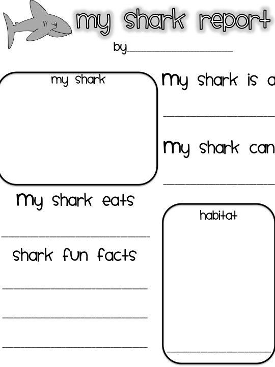 First Grade Fanatics Whales and Sharks – Shark Worksheets