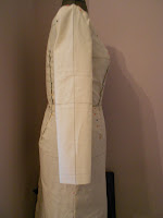 Side view of muslin