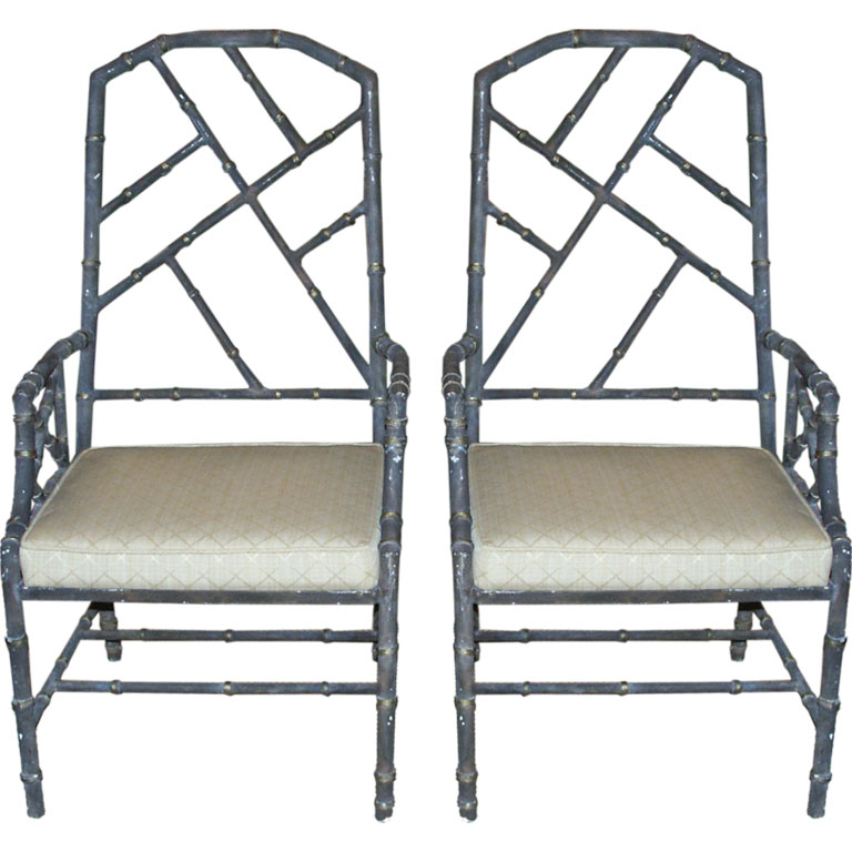 Chinoiserie Chic Faux Bamboo Chair At Liv Vintage
