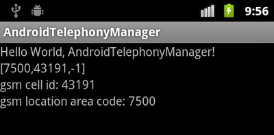 Get cell location on a GSM phone, getCellLocation()