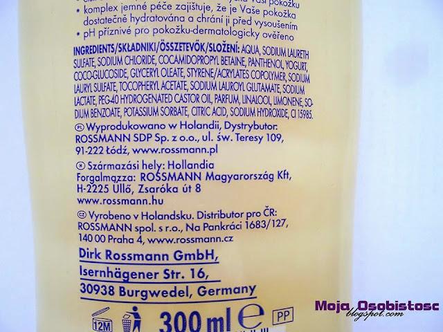 żel pod prysznic Isana witamina i jogurt