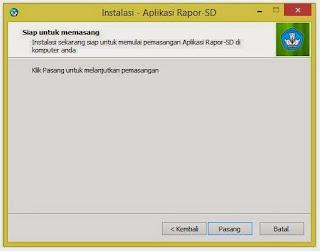 Cara Menginstal Aplikasi Rapor Versi 1.0.1 Kurikulum 2013 SD