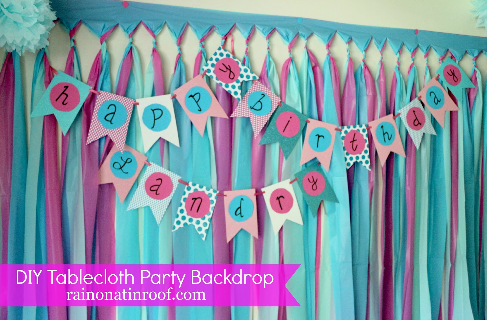 Diy party background for 5 or less for Back ground decoration