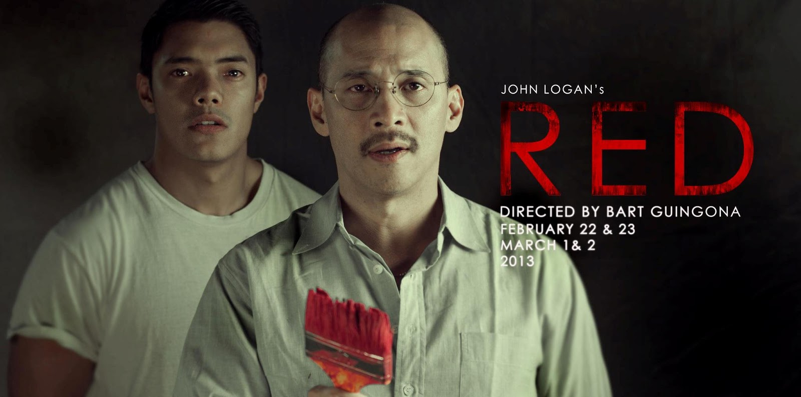 2010 Tony Award-winning Play RED Premieres in the Philippines Tonight