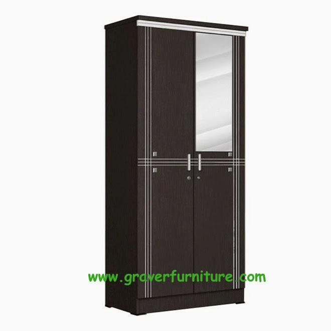 Lemari Pakaian 2 Pintu LP 8896 Popular Furniture