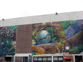 """Urbanart """"interbeing"""" Mural At Central High School By. Poster Print Sale. Rangers Logo. Line Stickers. Anniversary Banners. Good Luck Murals. Full Color Banners. Office Building Signs Of Stroke. Visual Logo"""