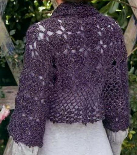 Crochet Shrug Pattern : GREYA, Crochet shrug pattern, PDF Images - Frompo