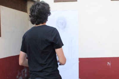 """nositio"",""Gijón"",""efímero"",""acción"",""performance"",""directo"",""dibujo"",""arte"",""draw"",""drawing"",""Vermeer"",""Ciudadela de Capua"",""clausura"""""