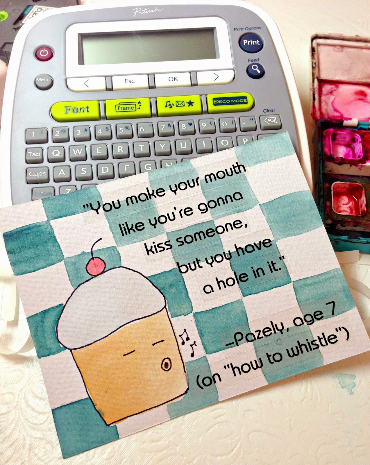WhiMSy love: DIY: Label Quote Art with Brother P-Touch Label Maker