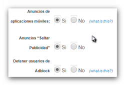 Adfly nuevas opciones