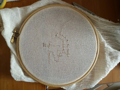 Learning that muslin is too fine for free motion machine embroidery