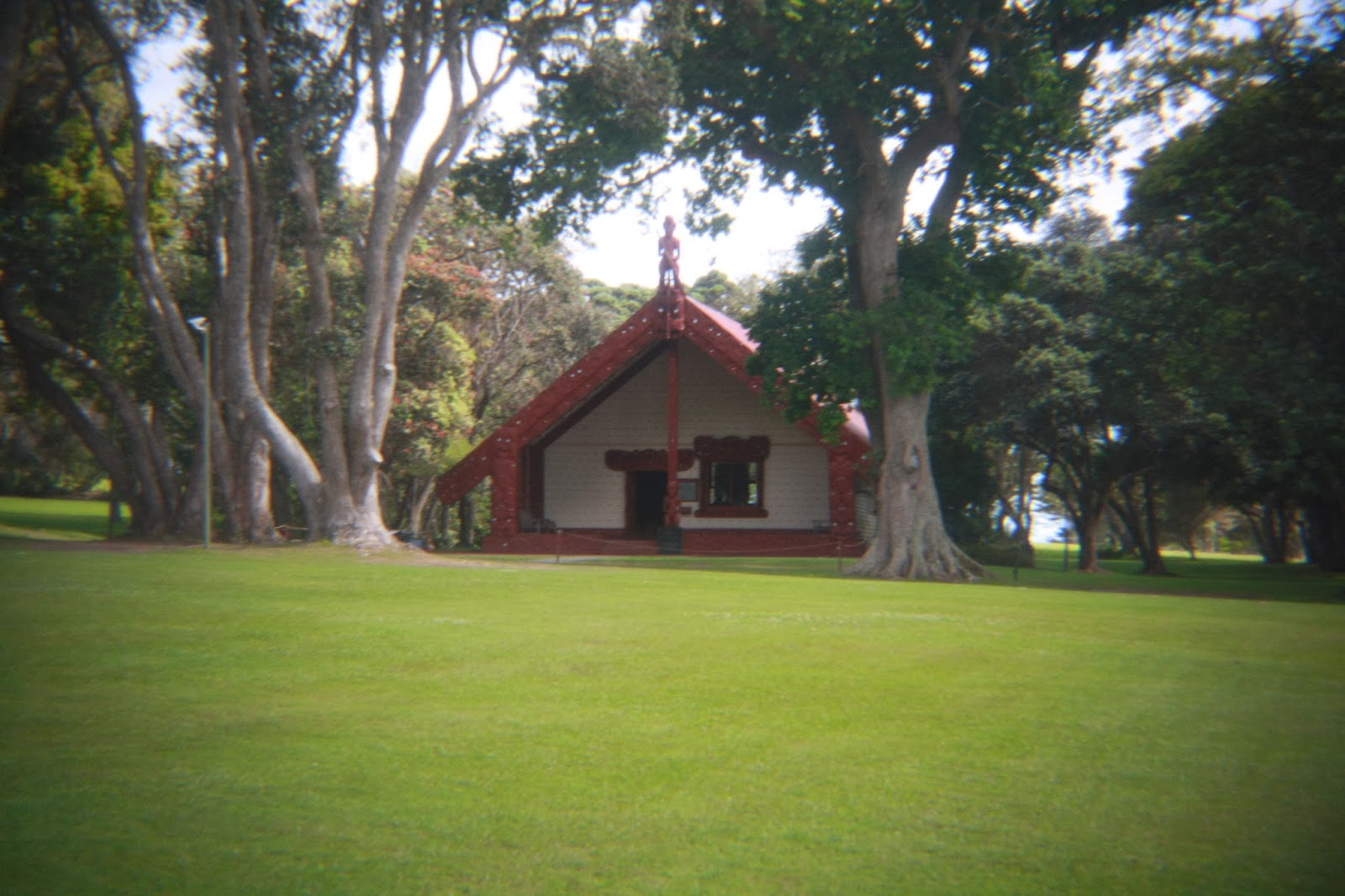 The meeting house at Waitangi.