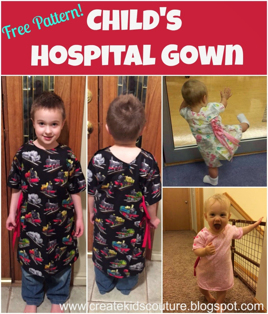 Create Kids Couture: Free Pattern: Child\'s Hospital Gown