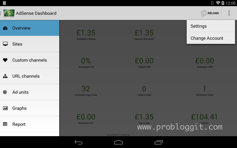 Aplikasi Untuk Melihat Penghasilan Google Adsense di Android