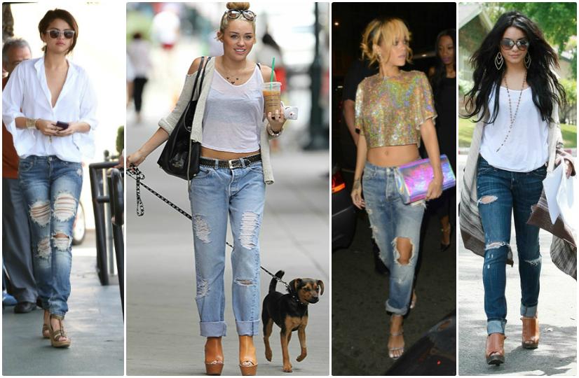 look jeans rasgada desfiado