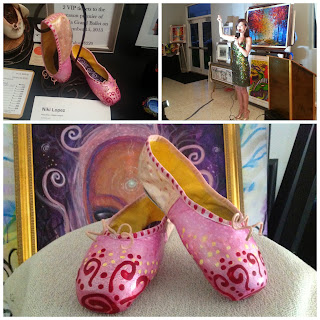 Painted pointe ballet shoes by Niki Lopez
